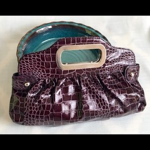 Claire's Faux Snakeskin Clutch